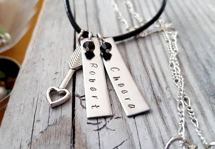 Couples Name Necklace Personalized